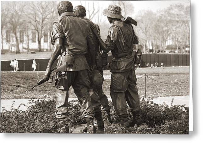 National Mall Greeting Cards - Vietnam Veterans Memorial - Washington DC Greeting Card by Mike McGlothlen