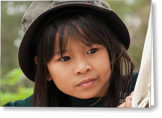 8-9 Years Greeting Cards - Vietnamese Girl 01 Greeting Card by Rick Piper Photography