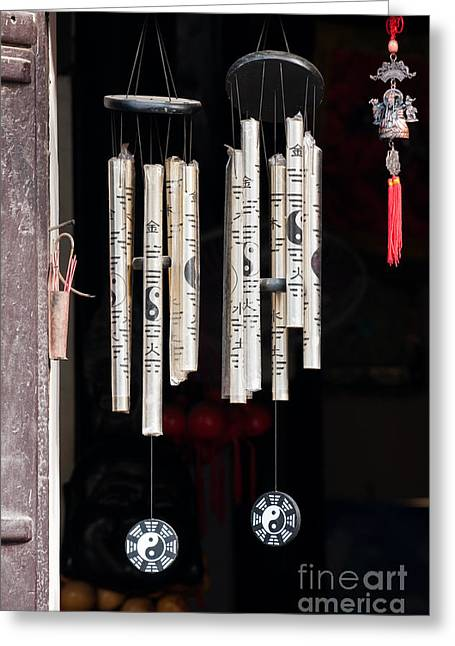 Wind Chimes Greeting Cards - Vietnamese Wind Chimes Greeting Card by Rick Piper Photography