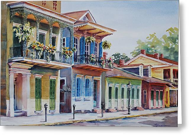 Vieux Carre Greeting Card by Sue Zimmermann