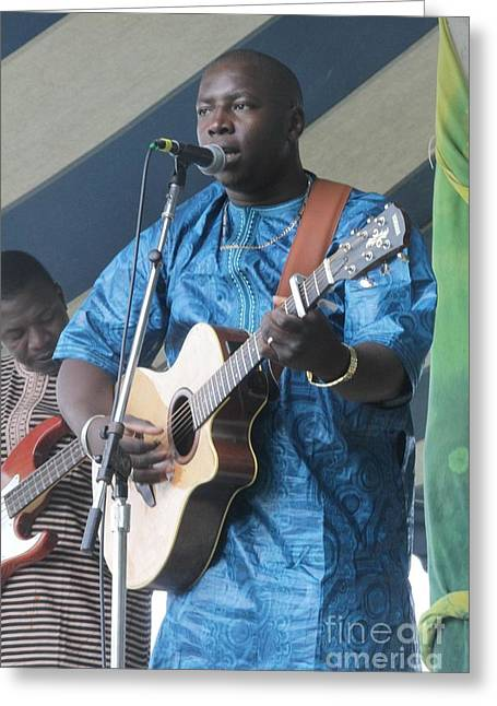 World Of Appearances Greeting Cards - Vieux Farka Toure Greeting Card by Front Row  Photographs