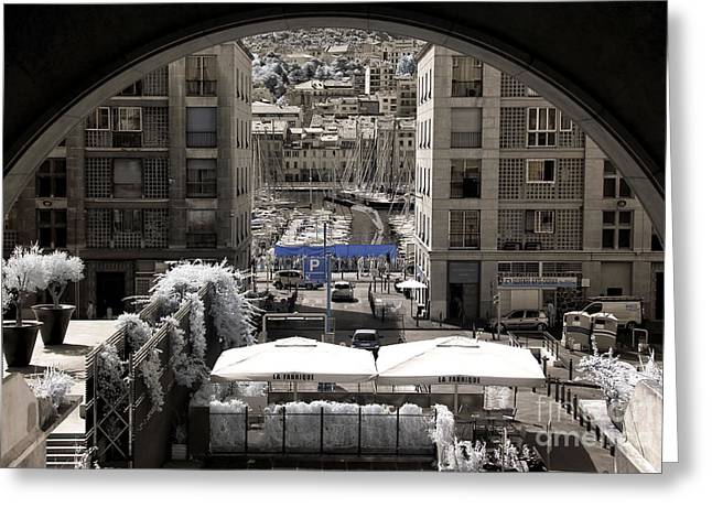 Ir Photography Greeting Cards - Vieux Port Frame Greeting Card by John Rizzuto