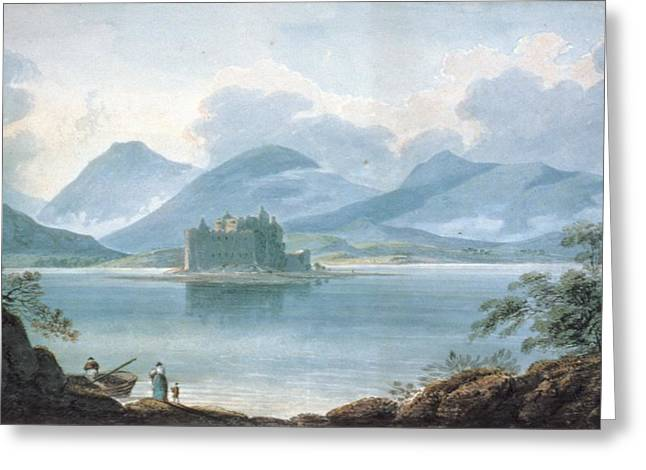 Lake Greeting Cards - View Across Loch Awe, Argyllshire, To Kilchurn Castle And The Mountains Greeting Card by R.S. Barret