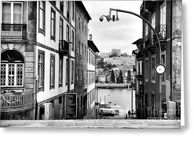 River View Photographs Greeting Cards - View Across the Douro Greeting Card by John Rizzuto