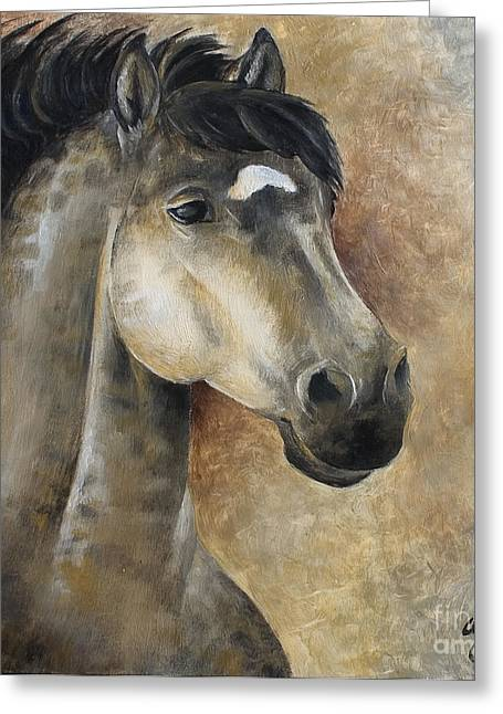 Horse Reliefs Greeting Cards - View Ahead Greeting Card by Abra Johnson