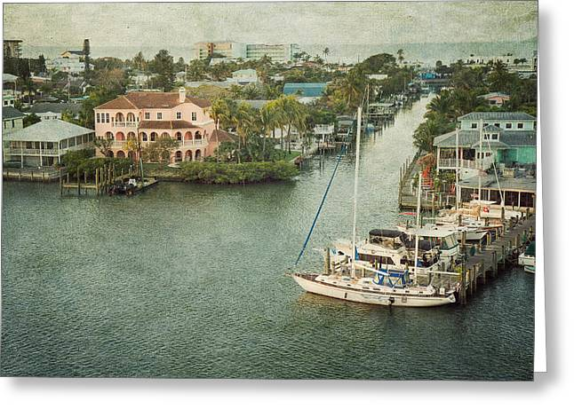 Kim Photographs Greeting Cards - View at Fort Myers Beach - Florida Greeting Card by Kim Hojnacki
