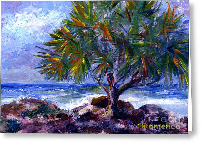 Hawaiian Paradise Park Greeting Cards - View at Makuu Greeting Card by Diane Thornton