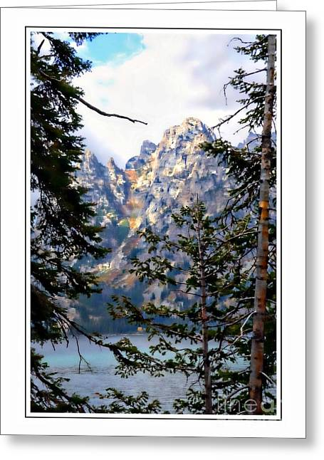 View Between The Trees Greeting Card by Kathleen Struckle