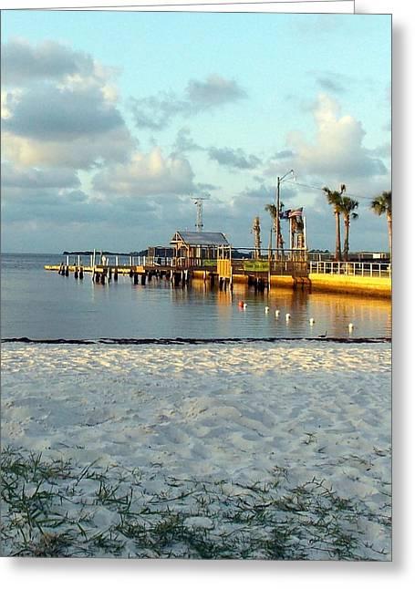 Cedar Key Greeting Cards - View Cedar Key Beach  Greeting Card by Sheri McLeroy