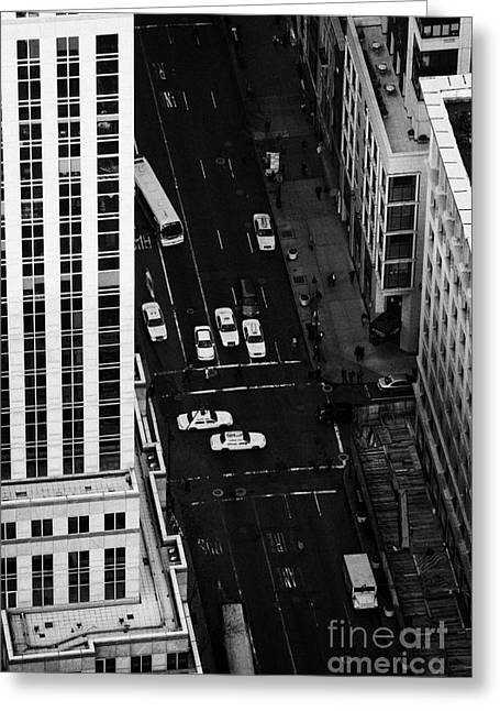 Manhatan Greeting Cards - View Down Towards Fifth 5th Avenue Ave New York City Greeting Card by Joe Fox