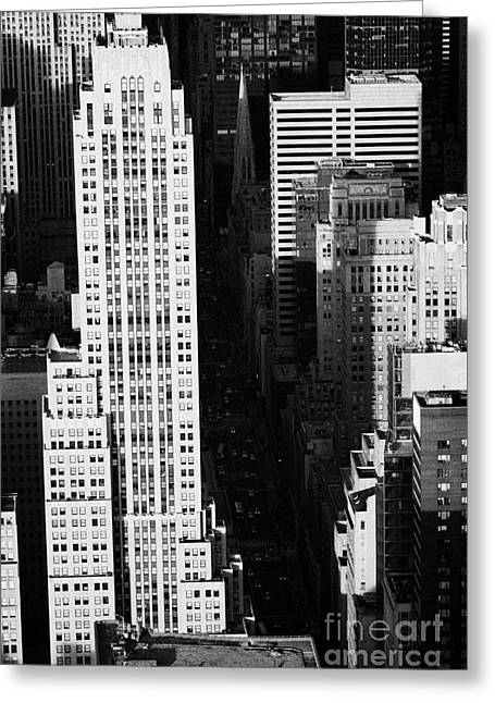 Manhatan Greeting Cards - View Down Towards Fifth 5th Avenue Ave New York City Streets Greeting Card by Joe Fox