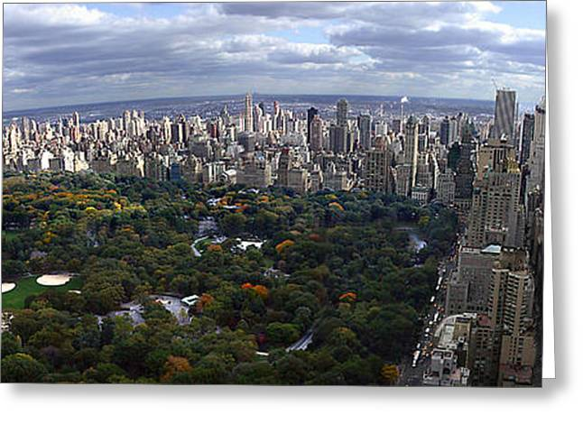 Warner Park Greeting Cards - View From a 40 Million Dollar NYC Penthouse Greeting Card by Michael Kogan