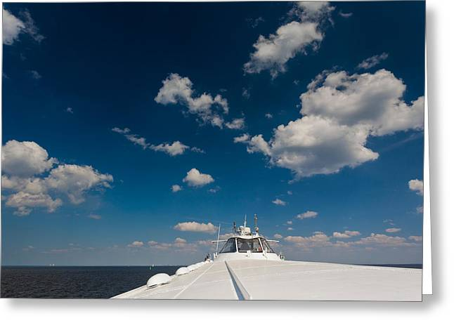 Meteor Greeting Cards - View From A Meteor Hydrofoil Boat Greeting Card by Panoramic Images