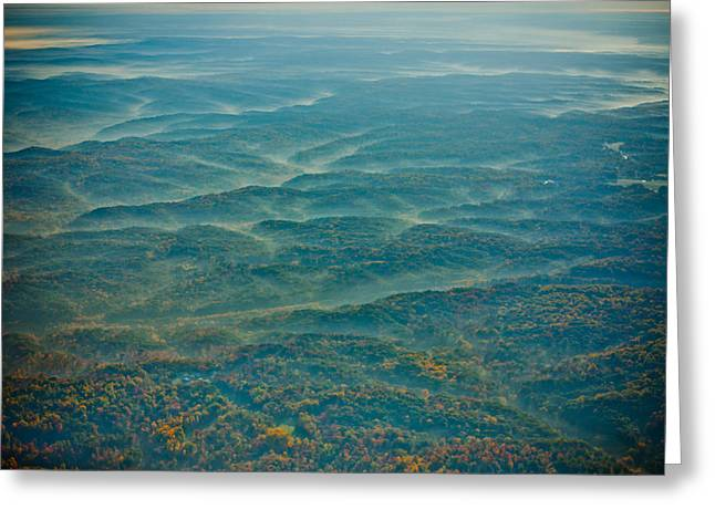 Bloomington Greeting Cards - View from Above Greeting Card by Anthony Doudt