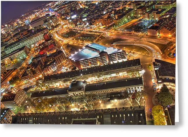 Boston Garden Greeting Cards - View from Above Greeting Card by Joann Vitali