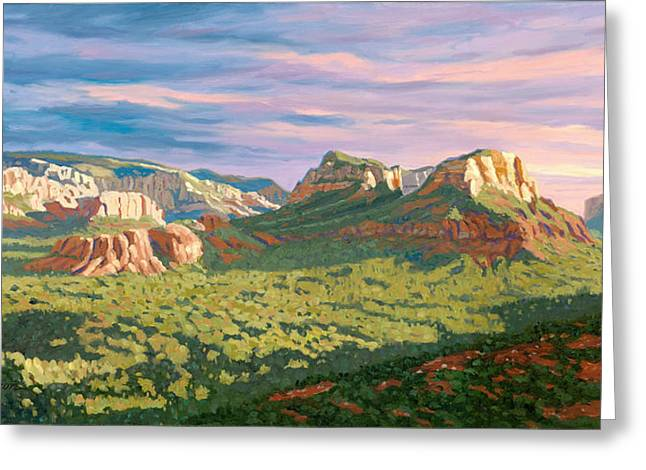 Sedona Greeting Cards - View from Airport Mesa - Sedona Greeting Card by Steve Simon