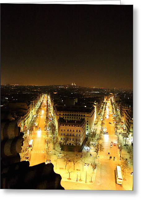 View From Arc De Triomphe - Paris France - 01131 Greeting Card by DC Photographer