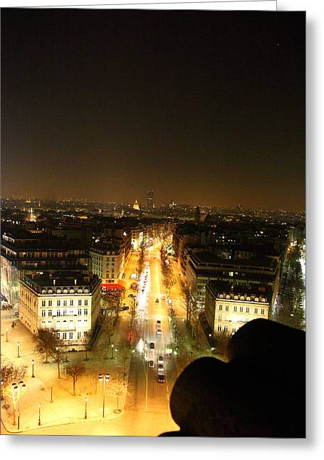 Place Greeting Cards - View from Arc de Triomphe - Paris France - 011310 Greeting Card by DC Photographer