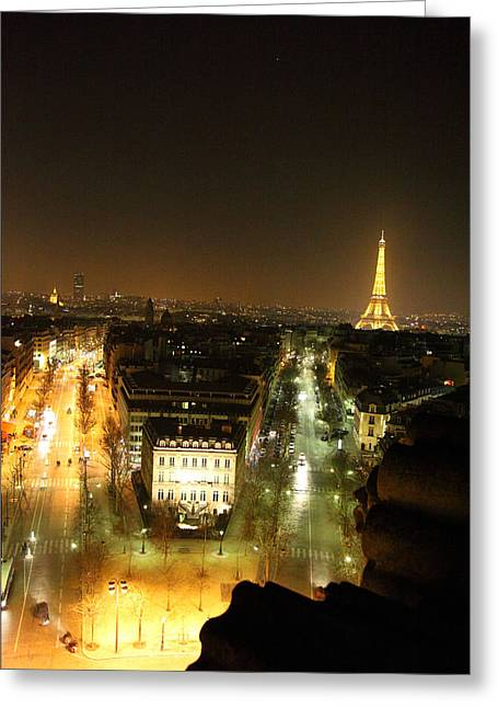 Roman Greeting Cards - View from Arc de Triomphe - Paris France - 011312 Greeting Card by DC Photographer