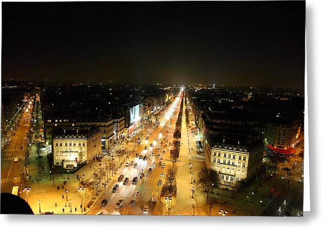 Culture Greeting Cards - View from Arc de Triomphe - Paris France - 011318 Greeting Card by DC Photographer