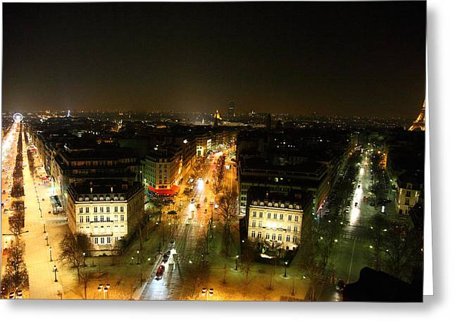Road Greeting Cards - View from Arc de Triomphe - Paris France - 011321 Greeting Card by DC Photographer