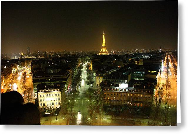 Tourism Photographs Greeting Cards - View from Arc de Triomphe - Paris France - 011322 Greeting Card by DC Photographer