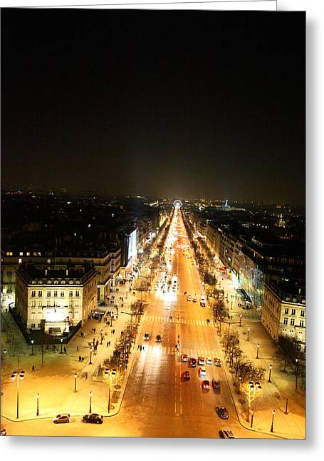 Avenue Greeting Cards - View from Arc de Triomphe - Paris France - 01136 Greeting Card by DC Photographer