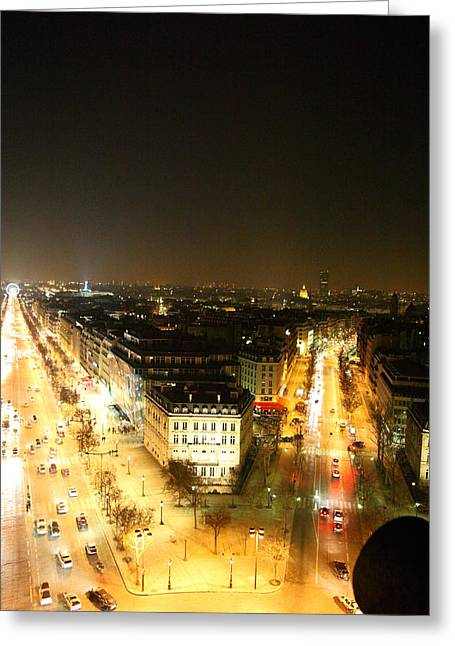 Cityscapes Greeting Cards - View from Arc de Triomphe - Paris France - 01138 Greeting Card by DC Photographer