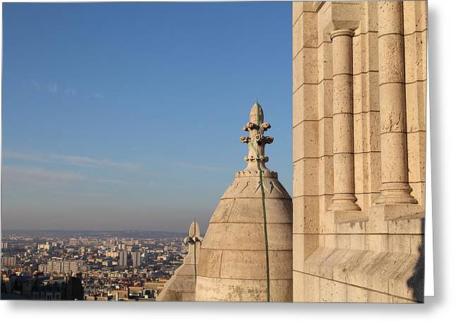 View From Basilica Of The Sacred Heart Of Paris - Sacre Coeur - Paris France - 01131 Greeting Card by DC Photographer