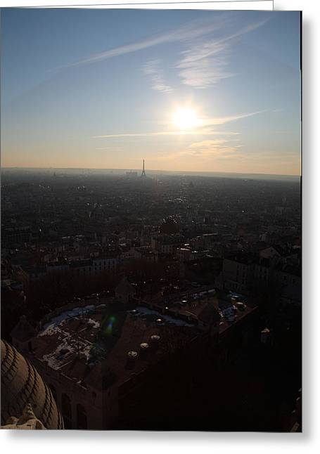 View From Basilica Of The Sacred Heart Of Paris - Sacre Coeur - Paris France - 011311 Greeting Card by DC Photographer