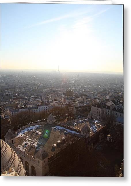 View From Basilica Of The Sacred Heart Of Paris - Sacre Coeur - Paris France - 011312 Greeting Card by DC Photographer