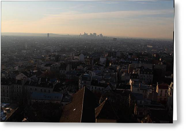 View from Basilica of the Sacred Heart of Paris - Sacre Coeur - Paris France - 011317 Greeting Card by DC Photographer
