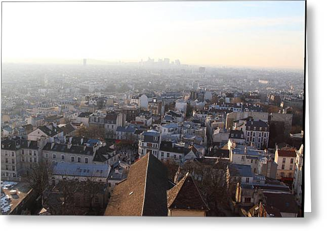 View from Basilica of the Sacred Heart of Paris - Sacre Coeur - Paris France - 011318 Greeting Card by DC Photographer