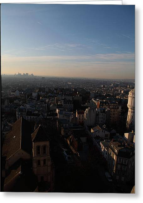 Mountain Greeting Cards - View from Basilica of the Sacred Heart of Paris - Sacre Coeur - Paris France - 011319 Greeting Card by DC Photographer