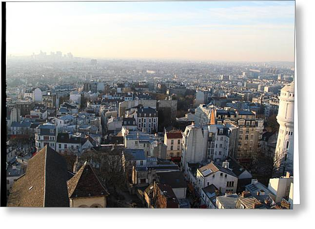 View from Basilica of the Sacred Heart of Paris - Sacre Coeur - Paris France - 011320 Greeting Card by DC Photographer