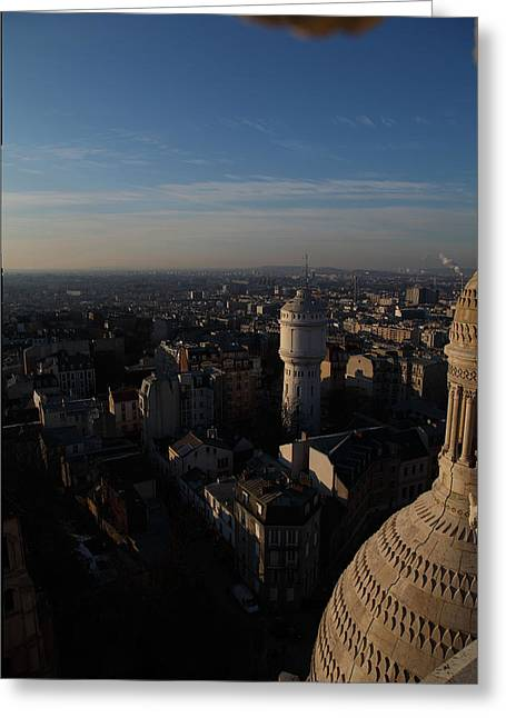 View From Basilica Of The Sacred Heart Of Paris - Sacre Coeur - Paris France - 011321 Greeting Card by DC Photographer