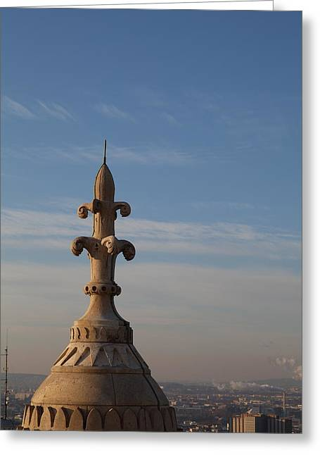 View From Basilica Of The Sacred Heart Of Paris - Sacre Coeur - Paris France - 011323 Greeting Card by DC Photographer