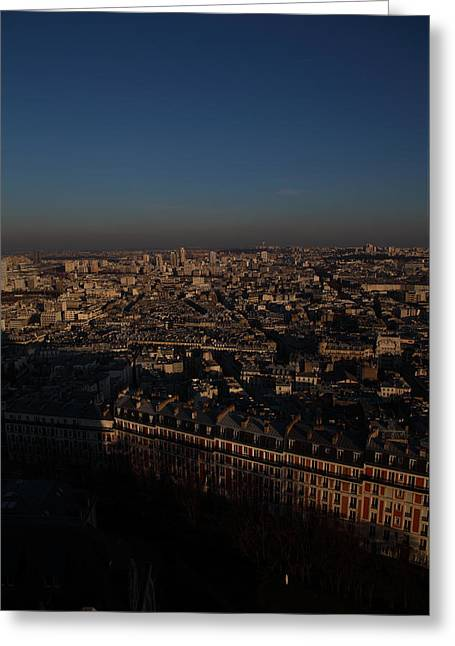 Religious Greeting Cards - View from Basilica of the Sacred Heart of Paris - Sacre Coeur - Paris France - 011327 Greeting Card by DC Photographer
