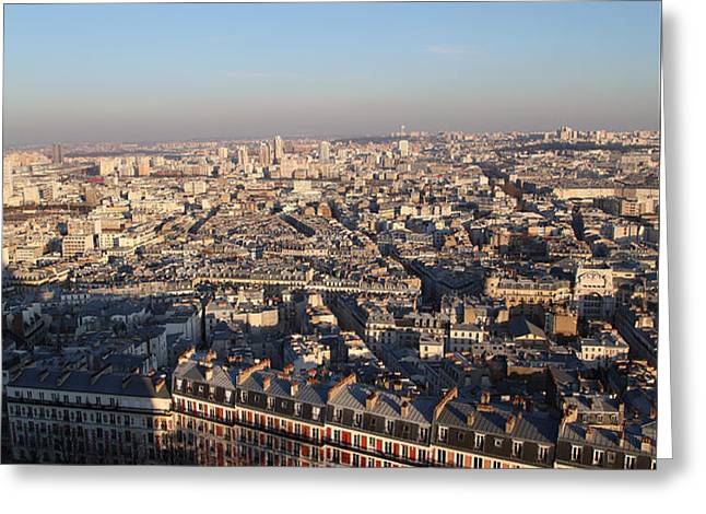 View from Basilica of the Sacred Heart of Paris - Sacre Coeur - Paris France - 011328 Greeting Card by DC Photographer