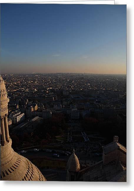 Basillica Greeting Cards - View from Basilica of the Sacred Heart of Paris - Sacre Coeur - Paris France - 011335 Greeting Card by DC Photographer