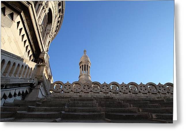 View from Basilica of the Sacred Heart of Paris - Sacre Coeur - Paris France - 01134 Greeting Card by DC Photographer