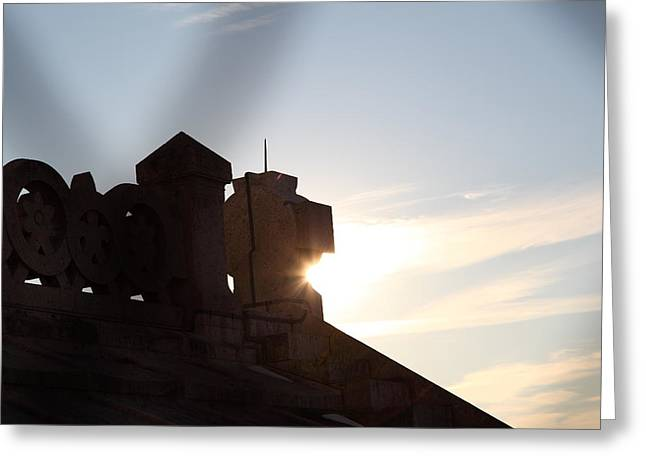 Stairs Greeting Cards - View from Basilica of the Sacred Heart of Paris - Sacre Coeur - Paris France - 01136 Greeting Card by DC Photographer