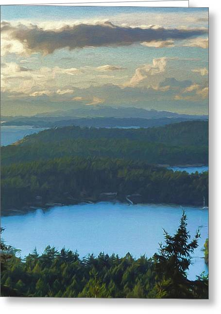 Haro Greeting Cards - View from Bell Point Greeting Card by John K Woodruff