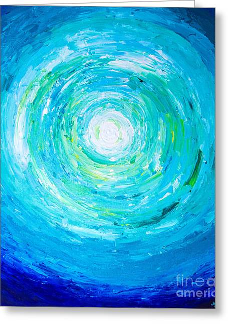 Pallet Knife Greeting Cards - View from Below Greeting Card by Alexandra Nicole Newton