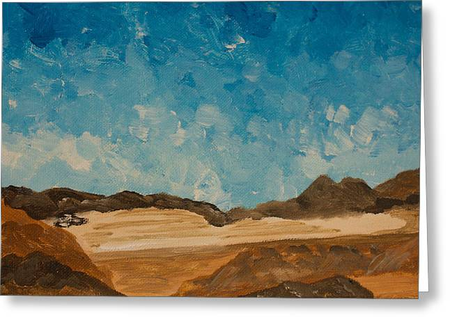Dry Lake Paintings Greeting Cards - View From Black Rock Canyon Greeting Card by Carolina Liechtenstein