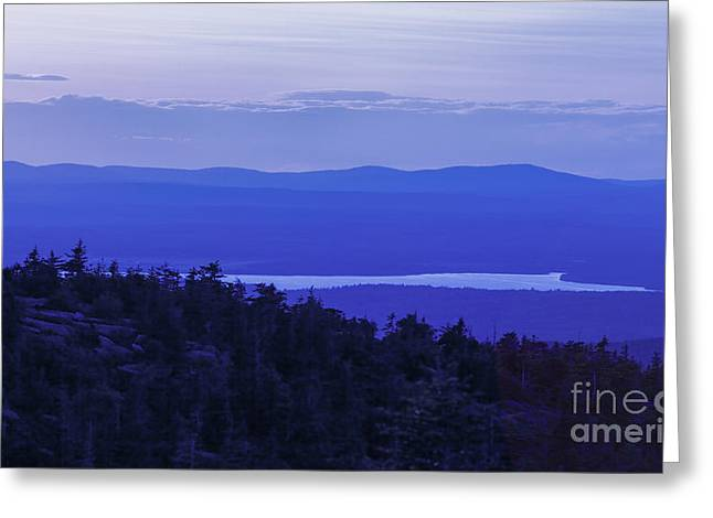 Maine Islands Greeting Cards - View from Cadillac Mountain Greeting Card by Diane Diederich