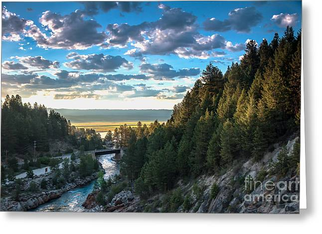 Haybale Greeting Cards - View From Cascade Dam Of The North Fork Of The Payette River Greeting Card by Robert Bales