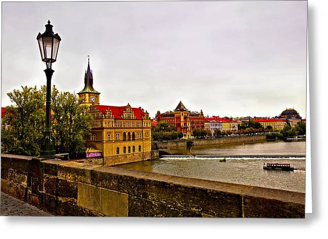 View From Charles Bridge Greeting Card by Madeline Ellis