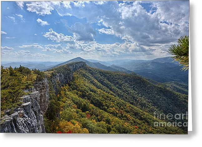 North Fork Greeting Cards - View from Chimney Rock on North Fork Mountain Greeting Card by Dan Friend