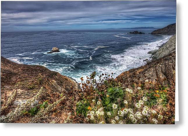 S. California Greeting Cards - View from Devils Slide Trail in San Mateo County California Greeting Card by Jennifer Rondinelli Reilly